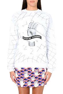 OPENING CEREMONY Remix hand-print sweatshirt