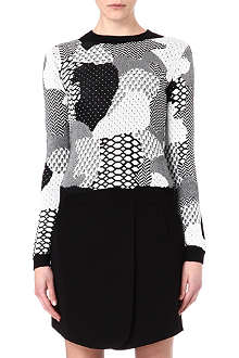 OPENING CEREMONY Abstract patterned jumper