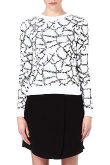 OPENING CEREMONY Crackle-effect jumper