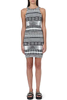 OPENING CEREMONY Jagged Lines sleeveless knit dress