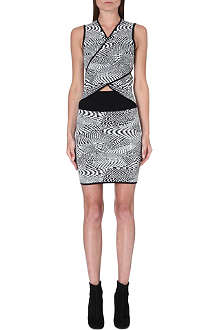 OPENING CEREMONY Sleeveless geometric-jacquard dress