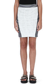 OPENING CEREMONY Facade Stich mini skirt