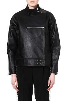 OPENING CEREMONY Dakota leather flight jacket