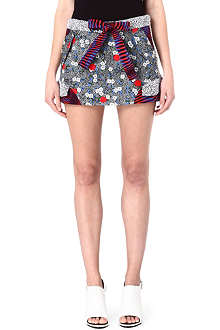 OPENING CEREMONY Clashing print mini skirt
