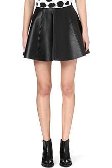 OPENING CEREMONY Flared leather skirt