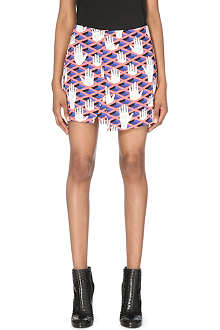 OPENING CEREMONY Criss-Cross Hands mini skirt