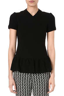 OPENING CEREMONY Ruffled-waist crepe top