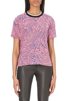 OPENING CEREMONY Fingerprint silk top