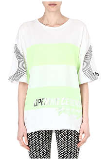 OPENING CEREMONY Striped jersey logo t-shirt