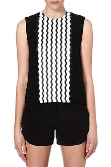 OPENING CEREMONY Wave-print sleeveless top
