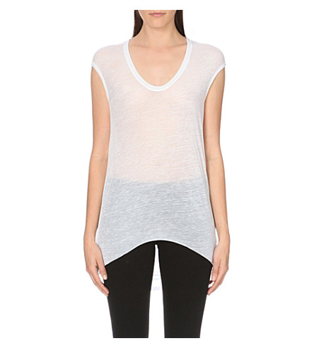 HELMUT LANG Cowl–back top (White