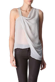 HELMUT LANG Draped chiffon top