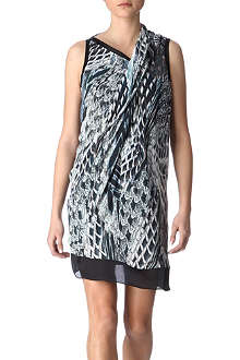 HELMUT LANG Pheasant-print dress