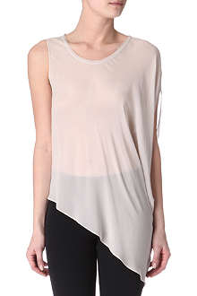 HELMUT LANG Ghost asymmetric silk top