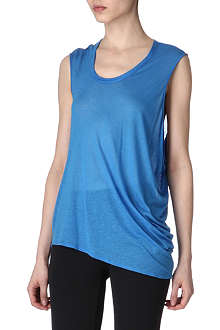HELMUT LANG Polished slub jersey sleeveless top