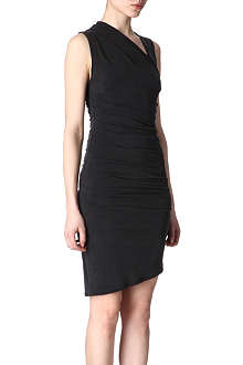 HELMUT LANG Draped brushed-cupro dress