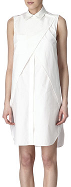 ALEXANDER WANG Leather-collar cut-out dress