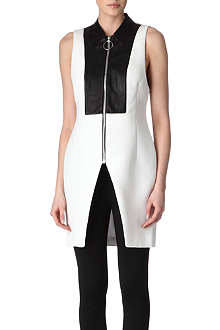 ALEXANDER WANG Leather-bib top