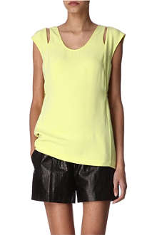 ALEXANDER WANG Racerback silk top