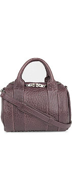 ALEXANDER WANG Rockie Dumbo pebbled-leather mini bowling bag