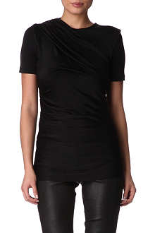 T BY ALEXANDER WANG Shiny draped top