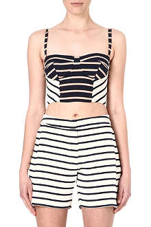 SOPHIE HULME Striped silk bra top