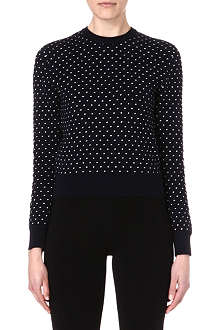 SOPHIE HULME Open-back polka-dot jumper