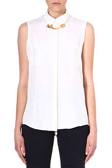 SOPHIE HULME Sleeveless silk shirt