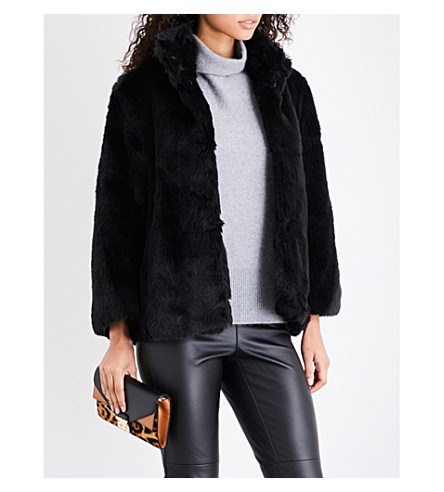MICHAEL MICHAEL KORS Faux-fur jacket (Black