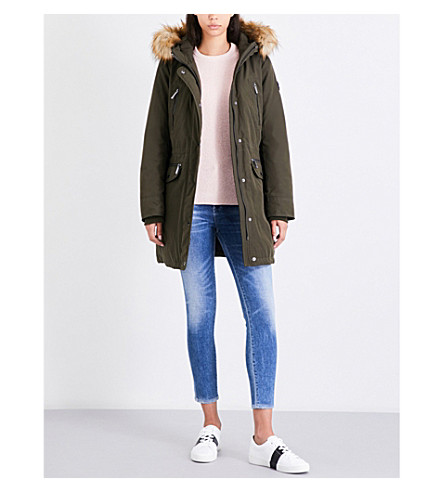 MICHAEL MICHAEL KORS Faux-fur hooded shell parka (Olive