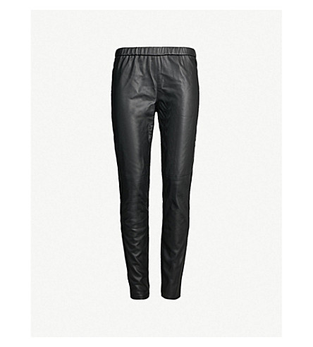 434f473fa206db MICHAEL MICHAEL KORS Skinny high-rise faux-leather leggings (Black
