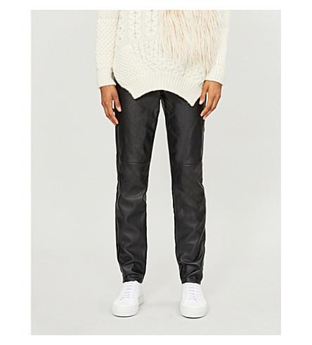 MICHAEL MICHAEL KORS Skinny high-rise faux-leather leggings (Black
