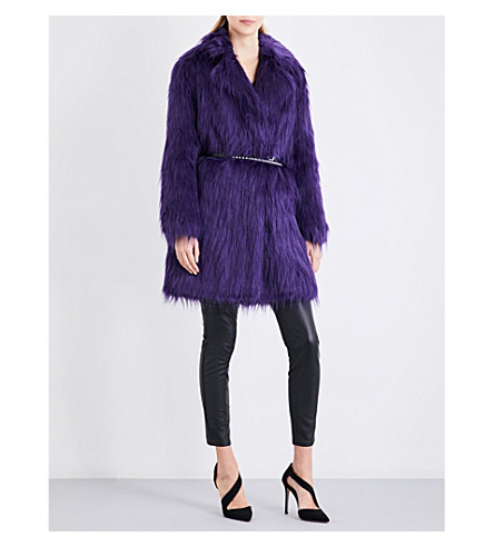 MICHAEL MICHAEL KORS Oversized faux-fur coat (Iris