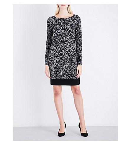 MICHAEL MICHAEL KORS Leopard-pattern woven dress (Black
