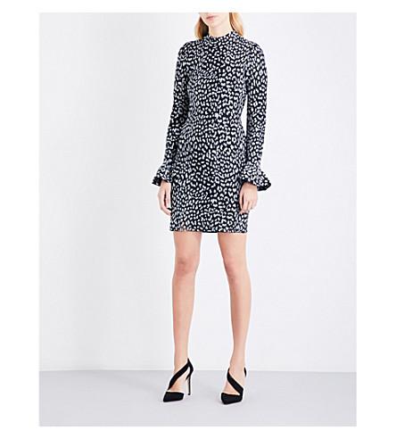 MICHAEL MICHAEL KORS Metallic cheetah-pattern jacquard-knit dress (Black
