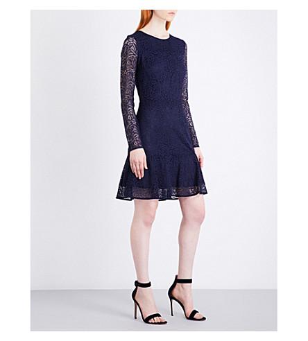 MICHAEL MICHAEL KORS Arabesque stretch-lace dress (True+navy