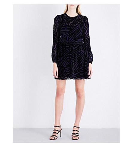 MICHAEL MICHAEL KORS Devoré-pattern velvet mini dress (Iris