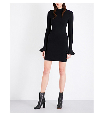 MICHAEL MICHAEL KORS Bell-sleeve knitted dress (Black