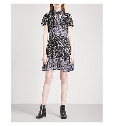 MICHAEL MICHAEL KORS Star-print chiffon dress (Black/white