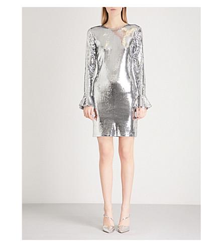 MICHAEL MICHAEL KORS Bell-cuff sequin dress (Concrete