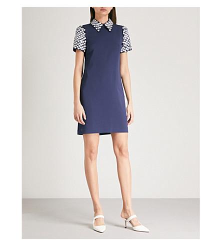 MICHAEL MICHAEL KORS Embellished crepe mini dress (True+navy