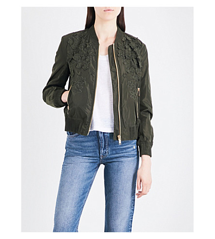 MICHAEL MICHAEL KORS Embroidered shell bomber jacket (Ivy