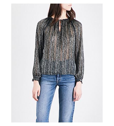 MICHAEL MICHAEL KORS Floral-print chiffon blouse (Ivy