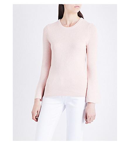 MICHAEL MICHAEL KORS Bell-sleeve metallic knitted jumper (Ballet