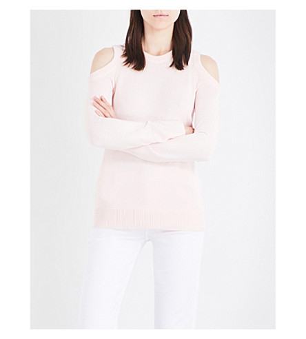 MICHAEL MICHAEL KORS Cold-shoulder knitted jumper (Ballet