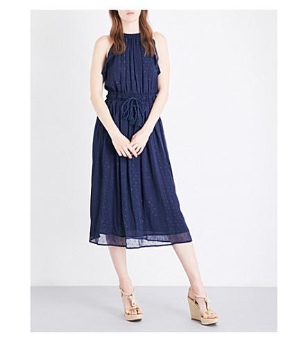 MICHAEL MICHAEL KORS Halter chiffon dress (True+navy