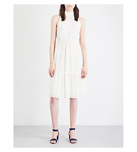 MICHAEL MICHAEL KORS Embroidered chiffon dress (Bone