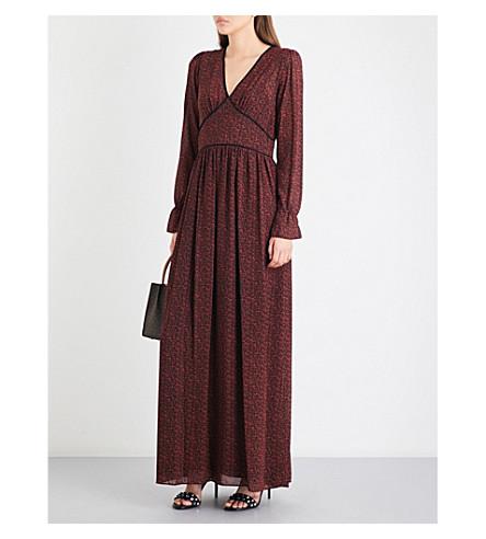 MICHAEL MICHAEL KORS Floral chiffon maxi dress (True+red