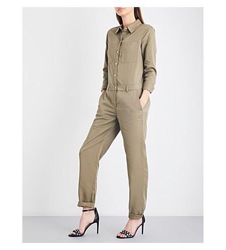 MICHAEL MICHAEL KORS Relaxed-fit denim jumpsuit (Safari+green