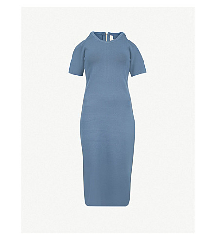 MICHAEL MICHAEL KORS Cut-out stretch-crepe dress (Dark+chambray